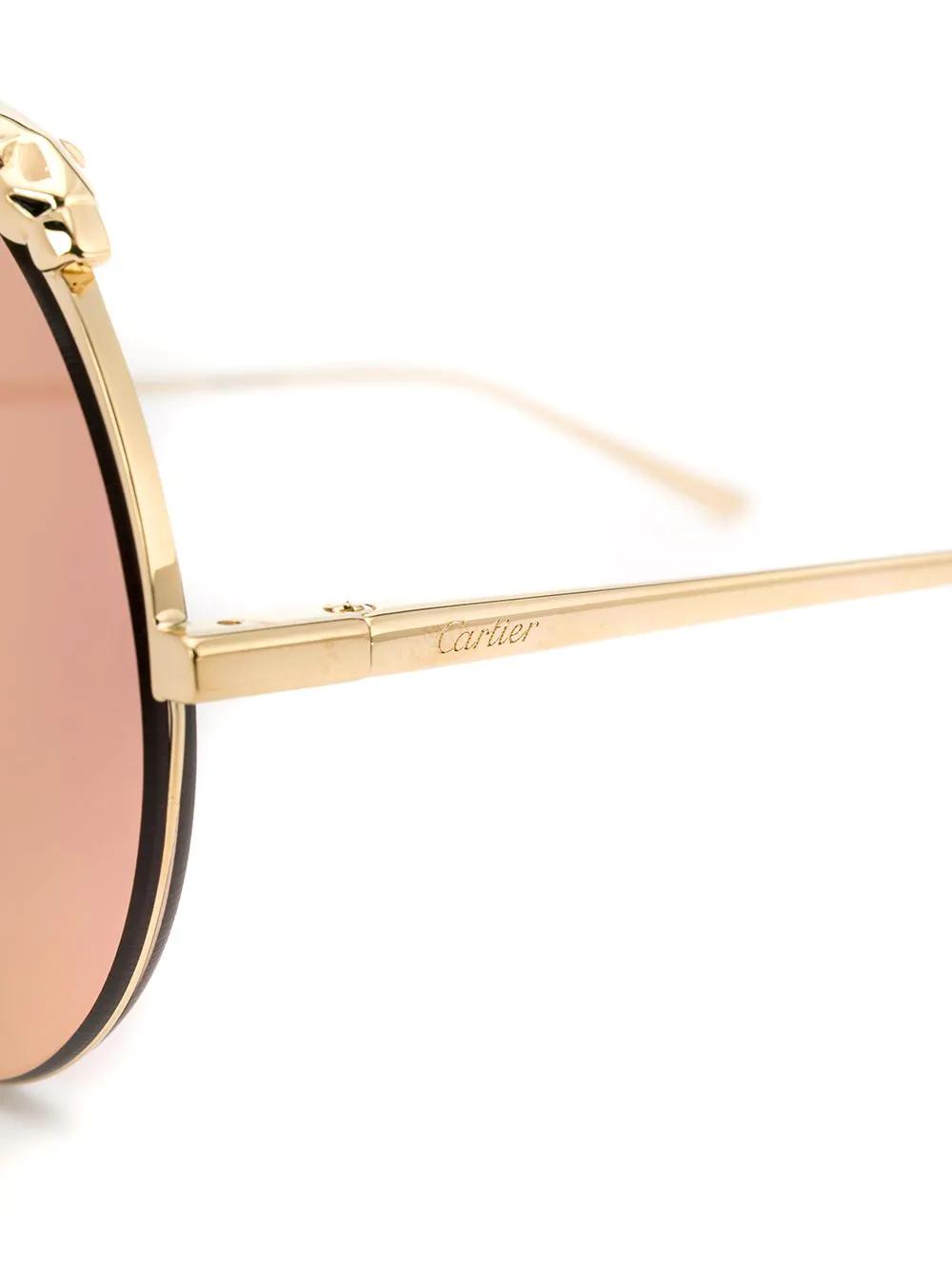 Cartier | солнцезащитные очки в массивной круглой оправе | Clouty