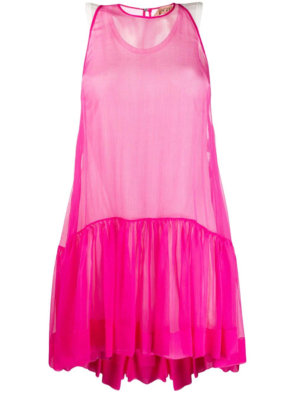 No. 21 | расклешенное платье без рукавов | Clouty