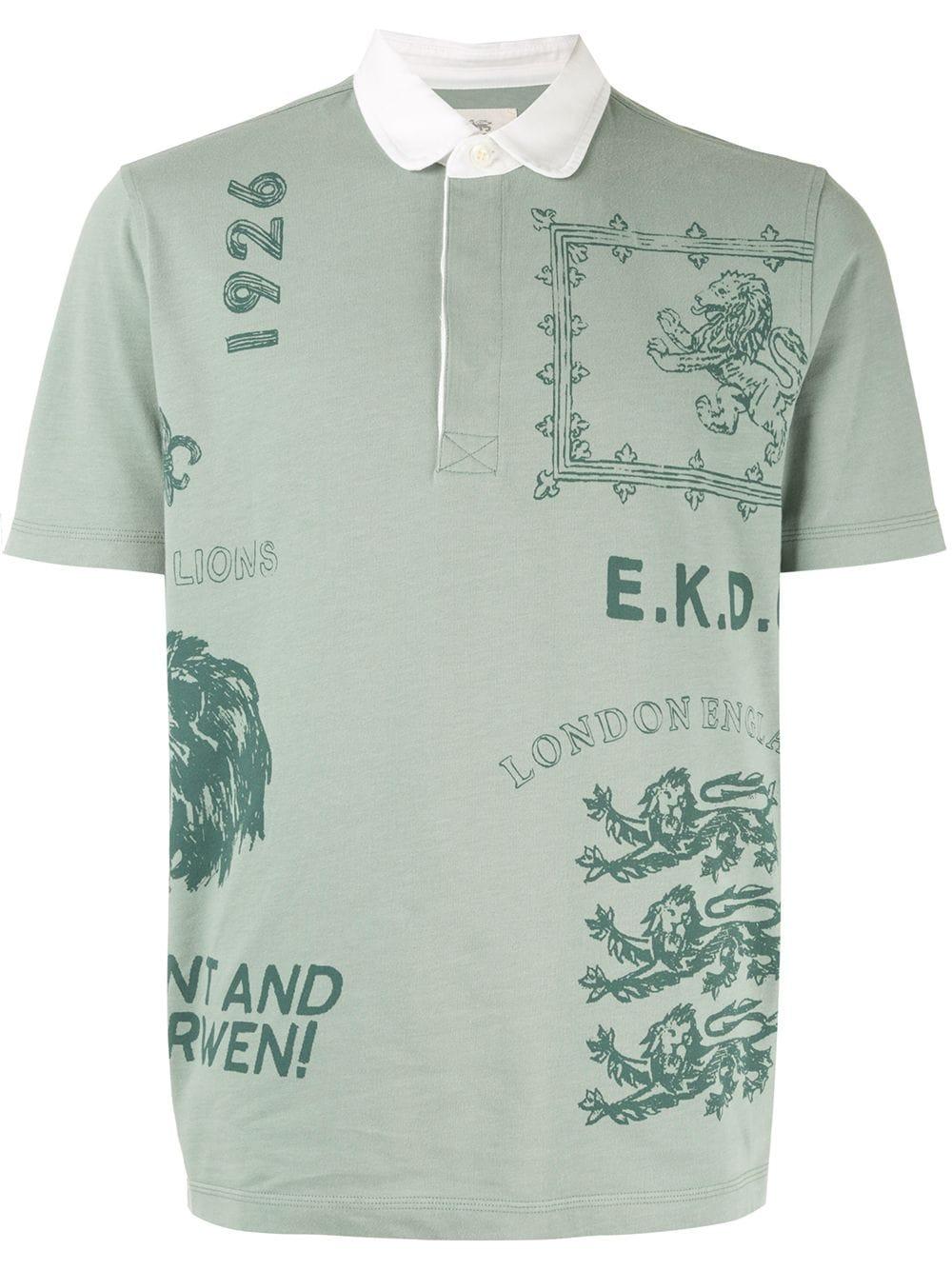 Kent & Curwen | рубашка-поло с принтом | Clouty