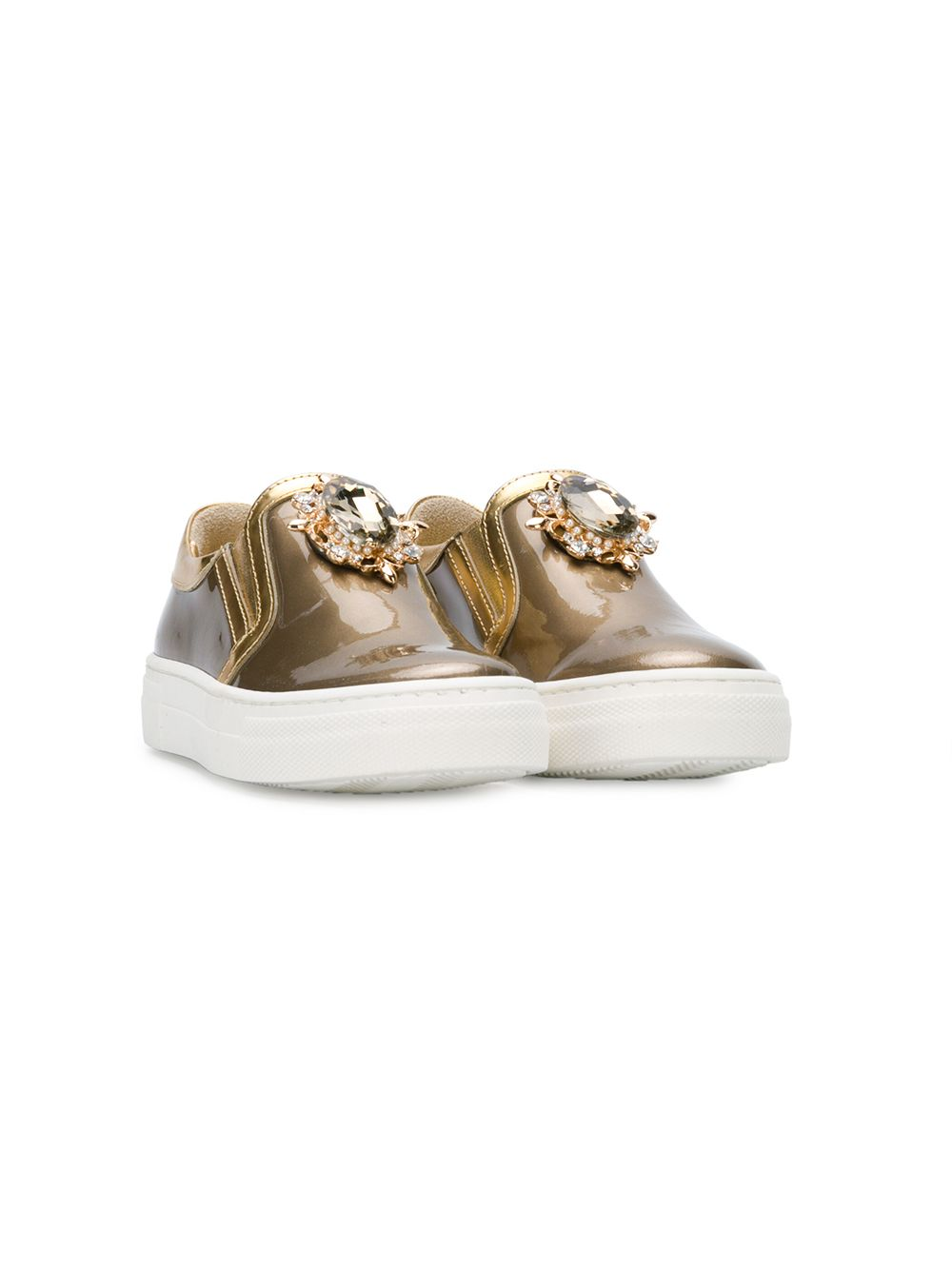 Quis Quis | embellished slip-on sneakers | Clouty