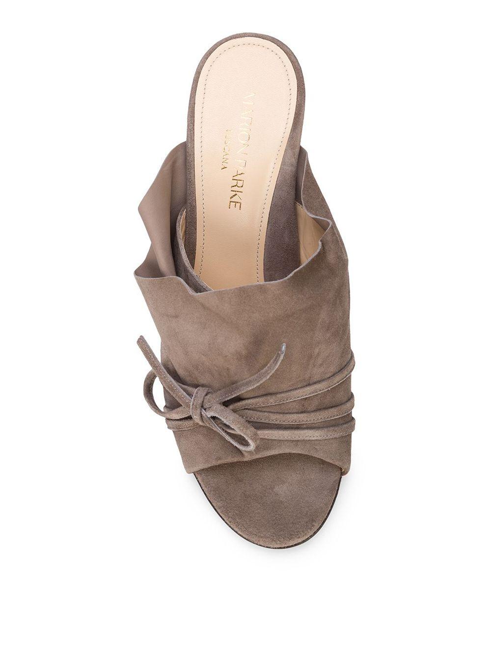 Marion Parke | Marion Parke мюли 'Lee' с открытым носком | Clouty
