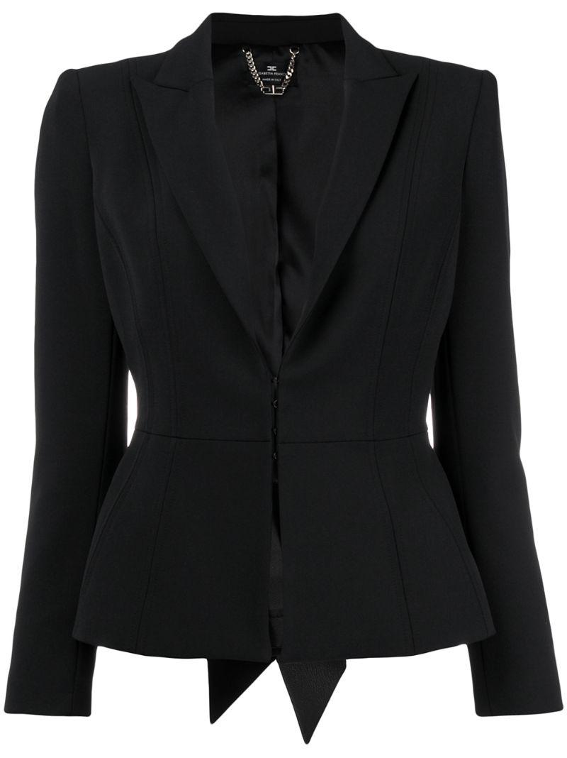 Elisabetta Franchi | concealed front blazer | Clouty