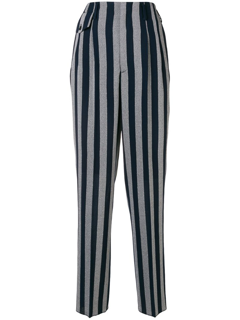 Golden Goose Deluxe Brand | flared striped trousers | Clouty