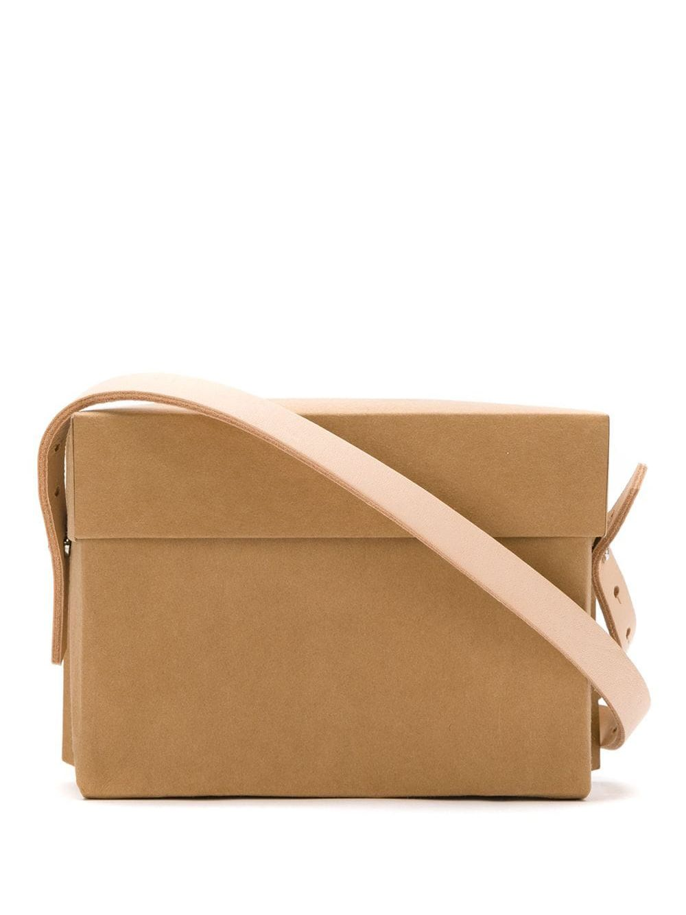 Gloria Coelho | paper bag with leather straps | Clouty