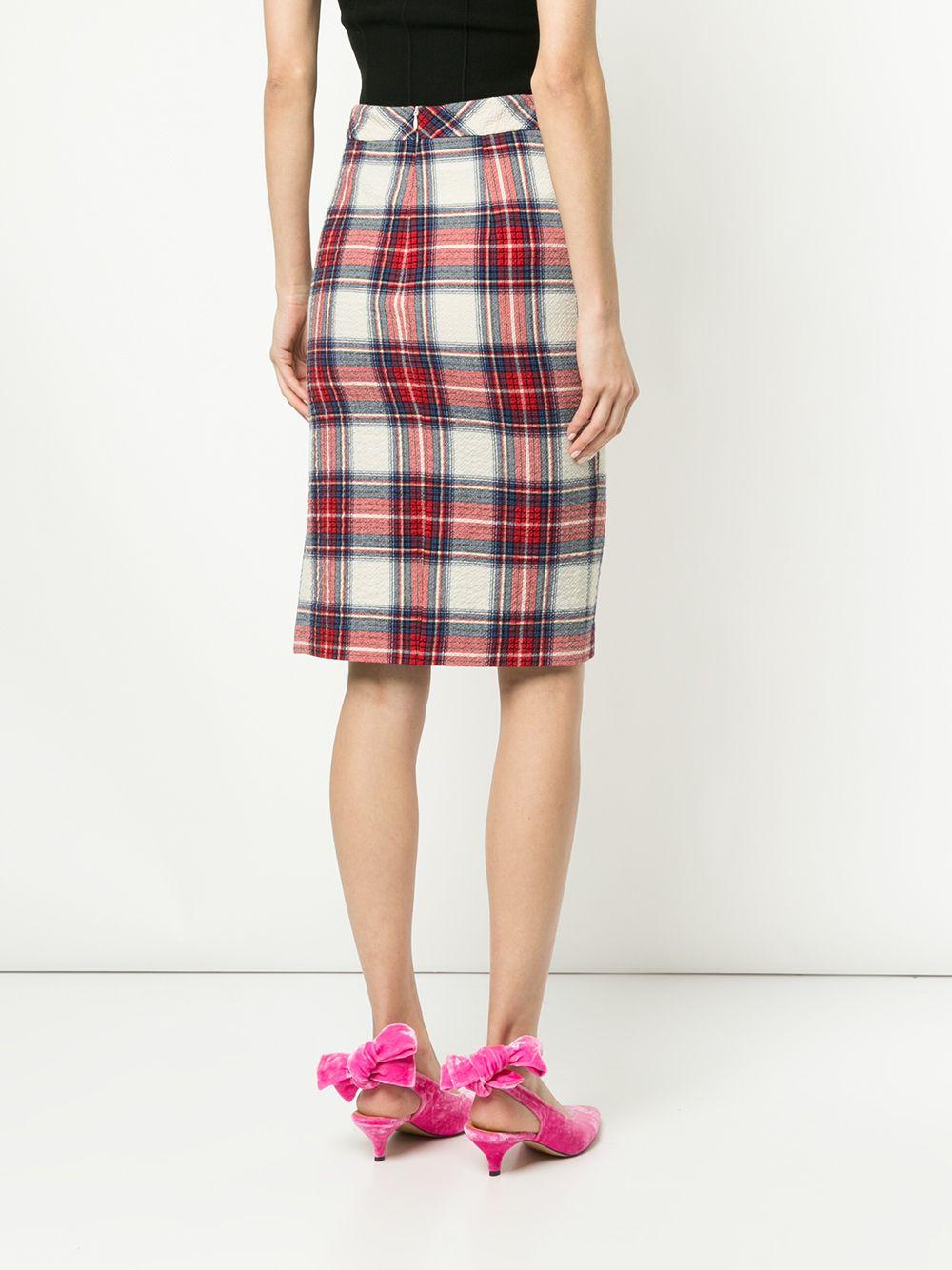 Boutique Moschino   юбка-карандаш в клетку   Clouty