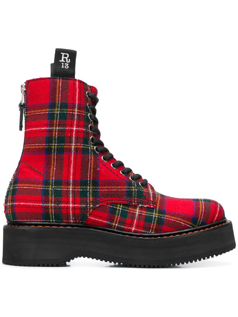 R13 | plaid boots | Clouty