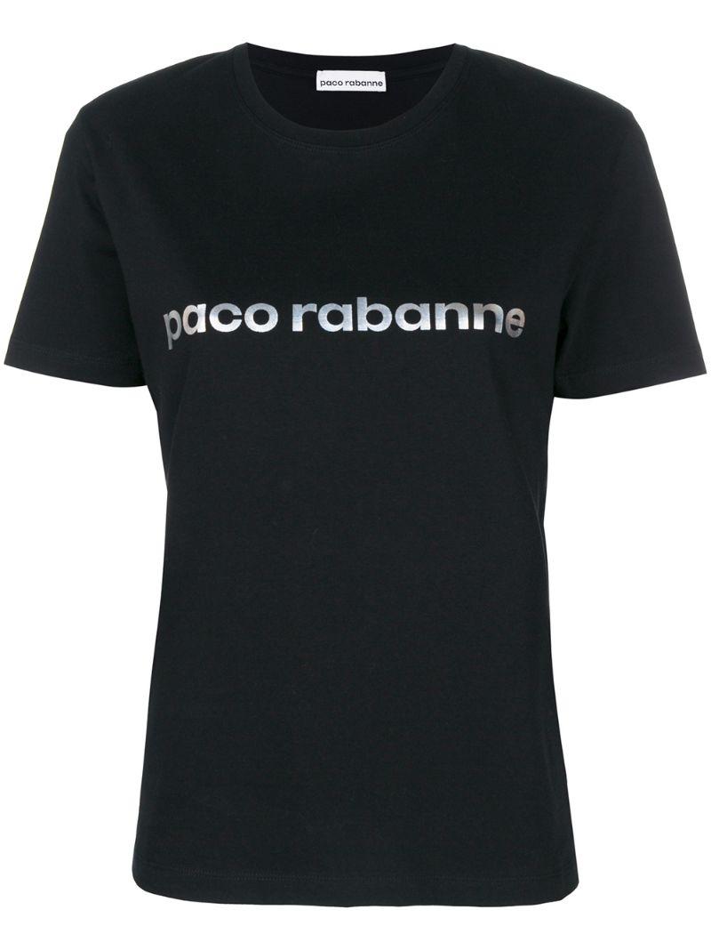 Paco Rabanne   футболка с принтом логотипа   Clouty