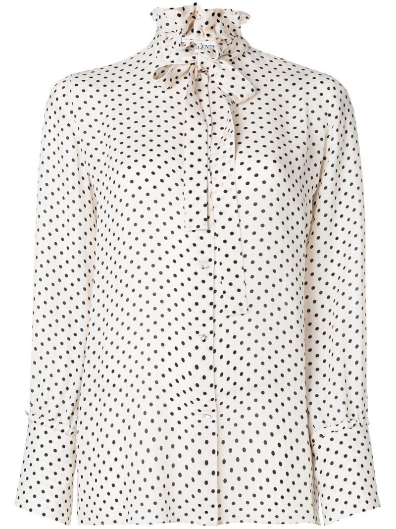 VALENTINO | блузка в горох | Clouty