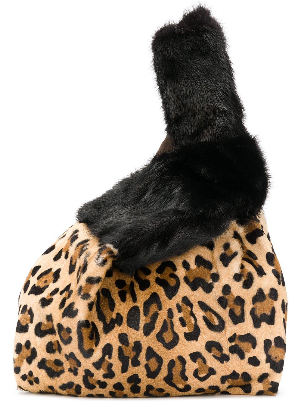 Simonetta Ravizza | leopard fur tote bag | Clouty