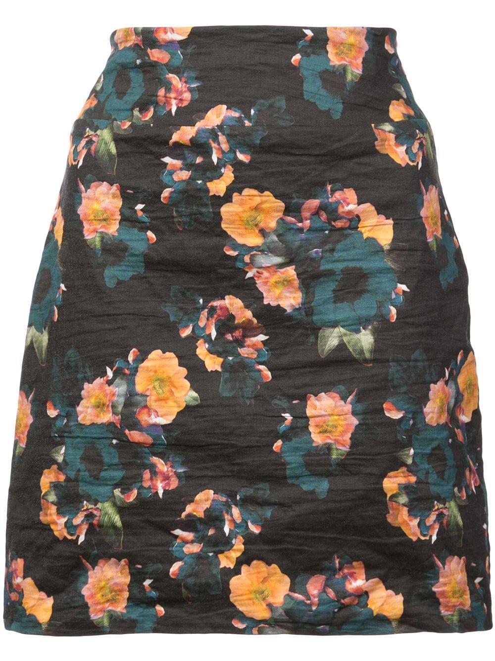 Nicole Miller | юбка мини с цветочным принтом | Clouty
