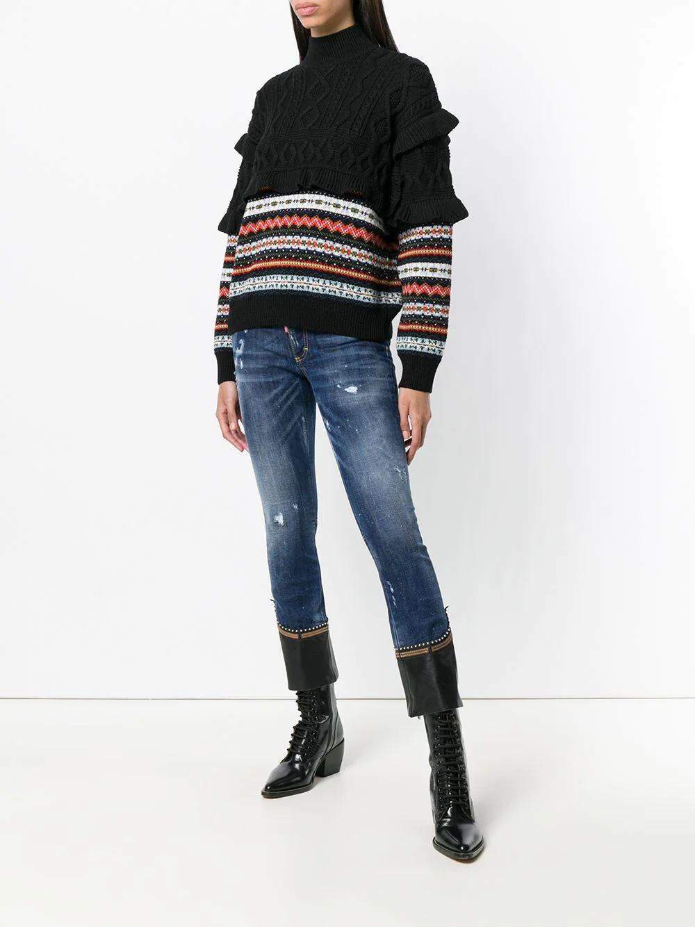 DSQUARED2 | Dsquared2 укороченные джинсы клеш 'Runway' | Clouty
