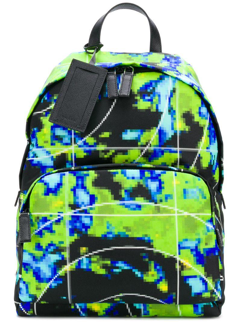 PRADA | pixel print backpack | Clouty