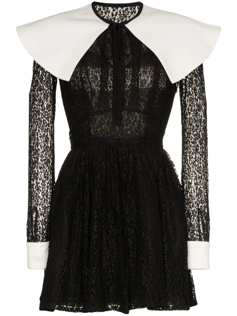 Alessandra Rich | кружевное платье мини 'Mikado' | Clouty