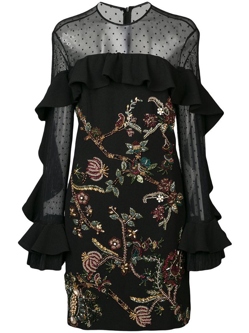 Pat Bo | платье-миди с декором | Clouty