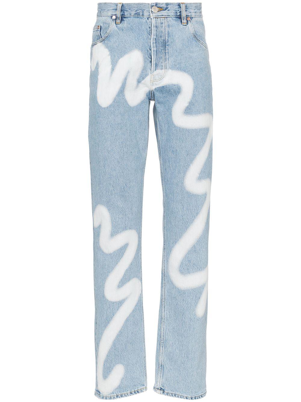 Martine Rose | джинсы прямого кроя с принтом | Clouty