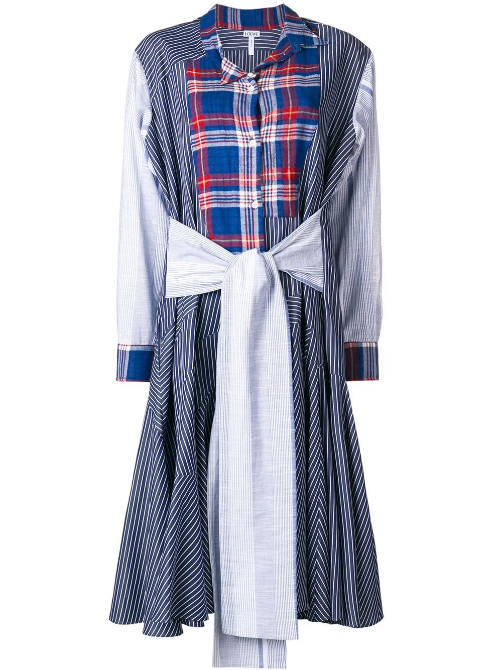 Loewe | платье-рубашка в лоскутном стиле | Clouty
