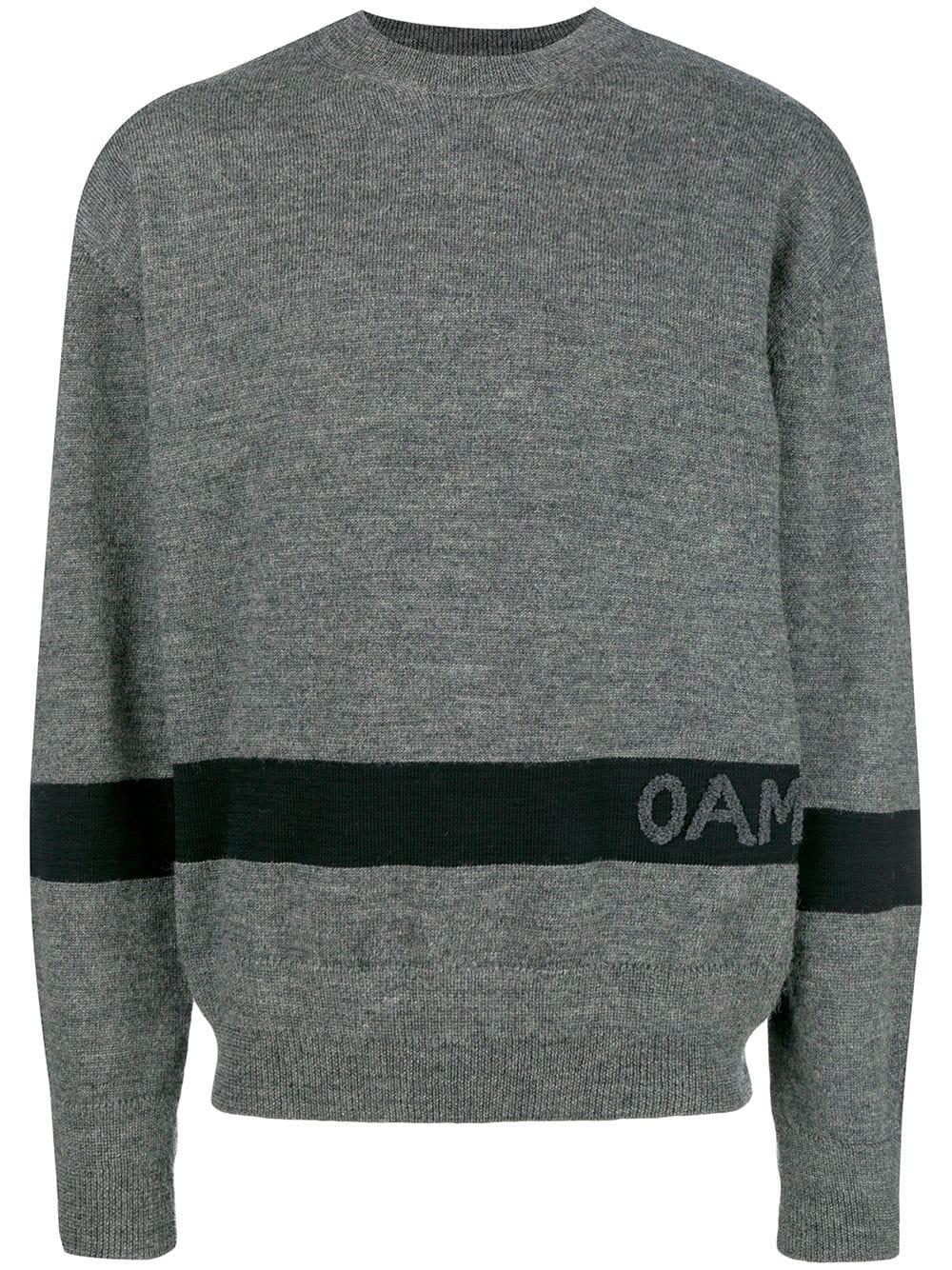 Oamc   свитер с контрастным логотипом   Clouty