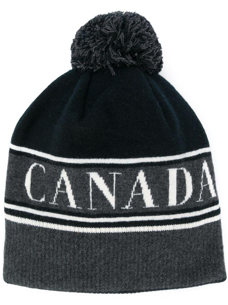 CANADA GOOSE   Pom Toque hat   Clouty
