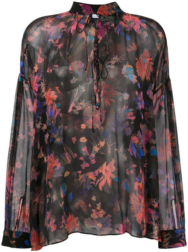 IRO   блузка с цветочным принтом   Clouty