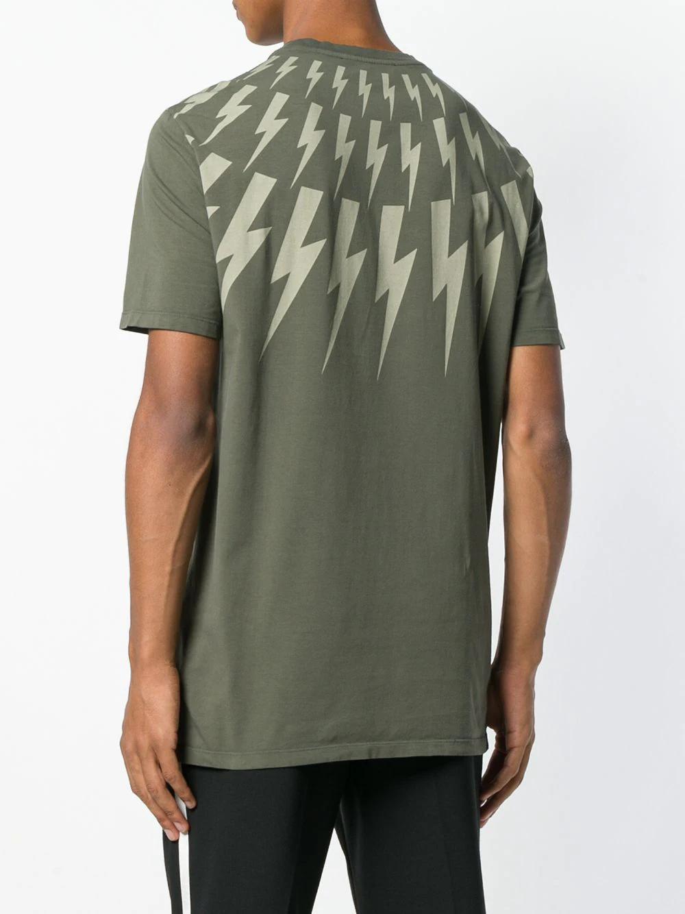 Neil Barrett | футболка с принтом молний | Clouty