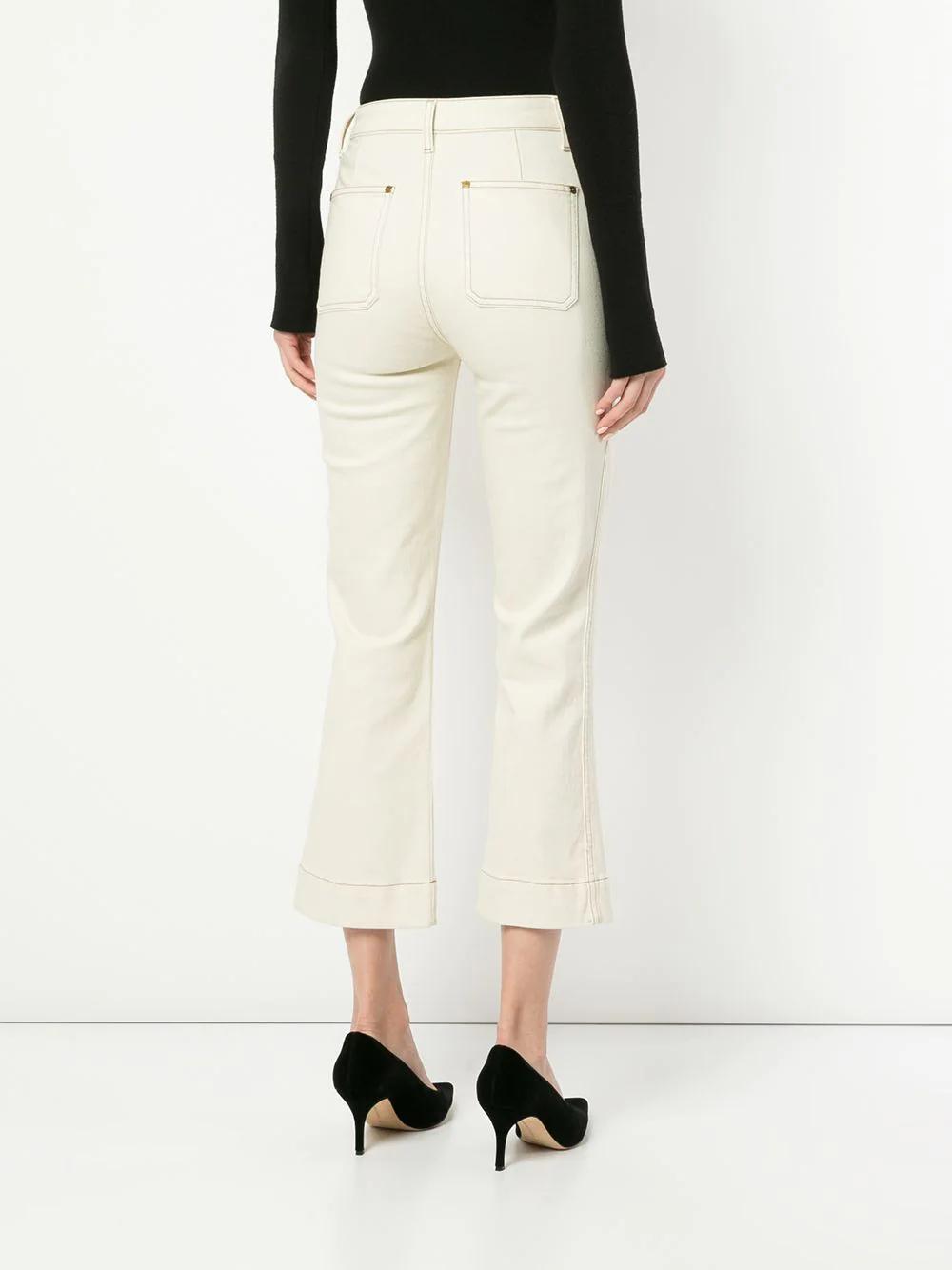 Khaite | укороченные расклешенные джинсы 'Fiona' | Clouty