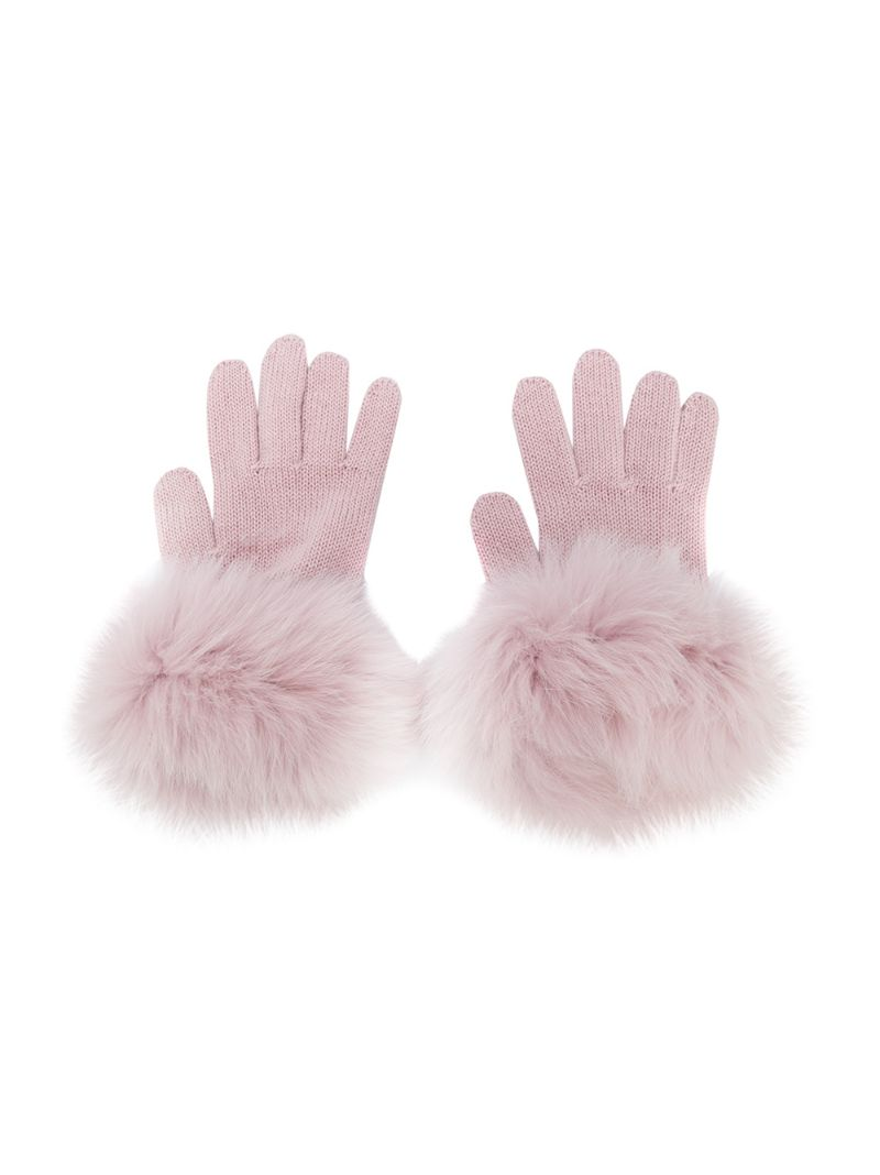 Catya Kids | knitted contrast trim gloves | Clouty
