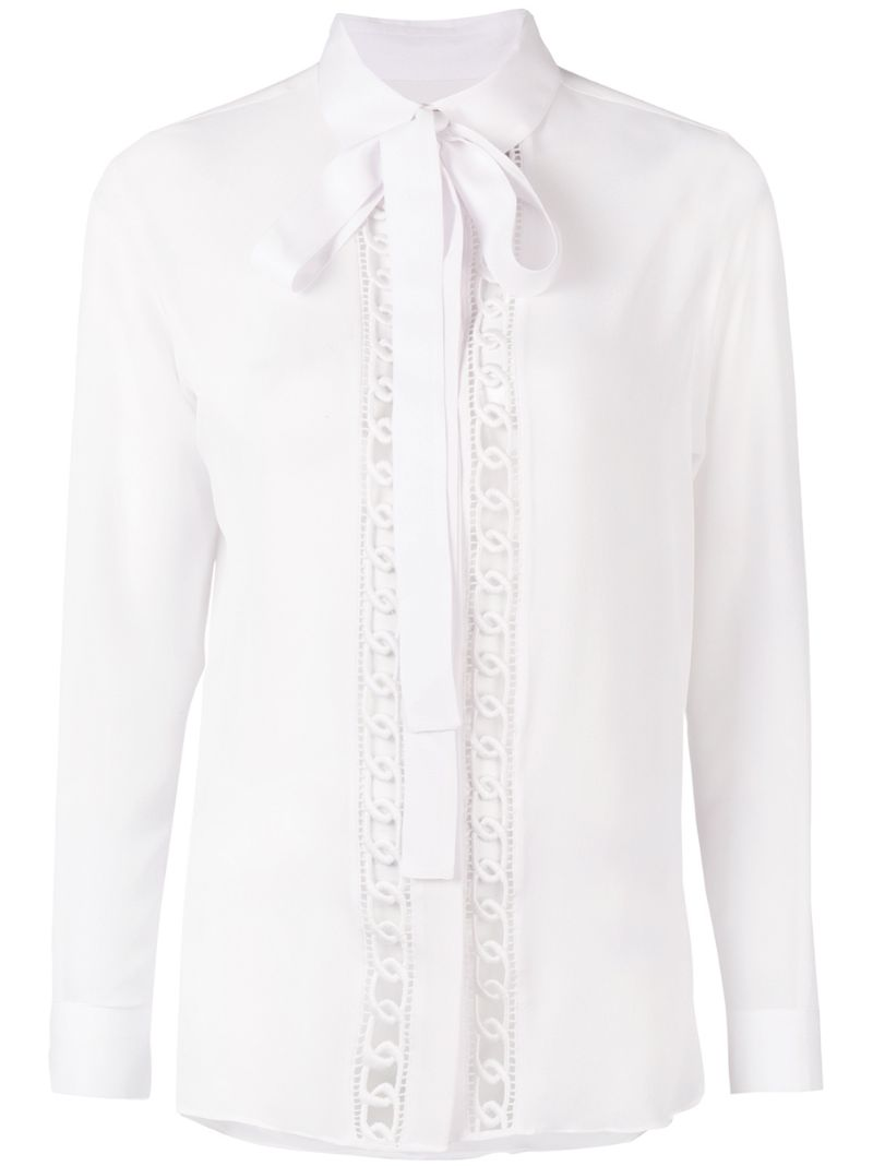 Elie Saab   scarf neck blouse   Clouty