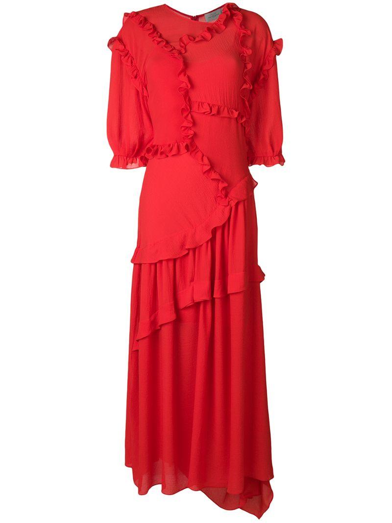 Preen By Thornton Bregazzi | платье 'Cassidy' с оборками | Clouty