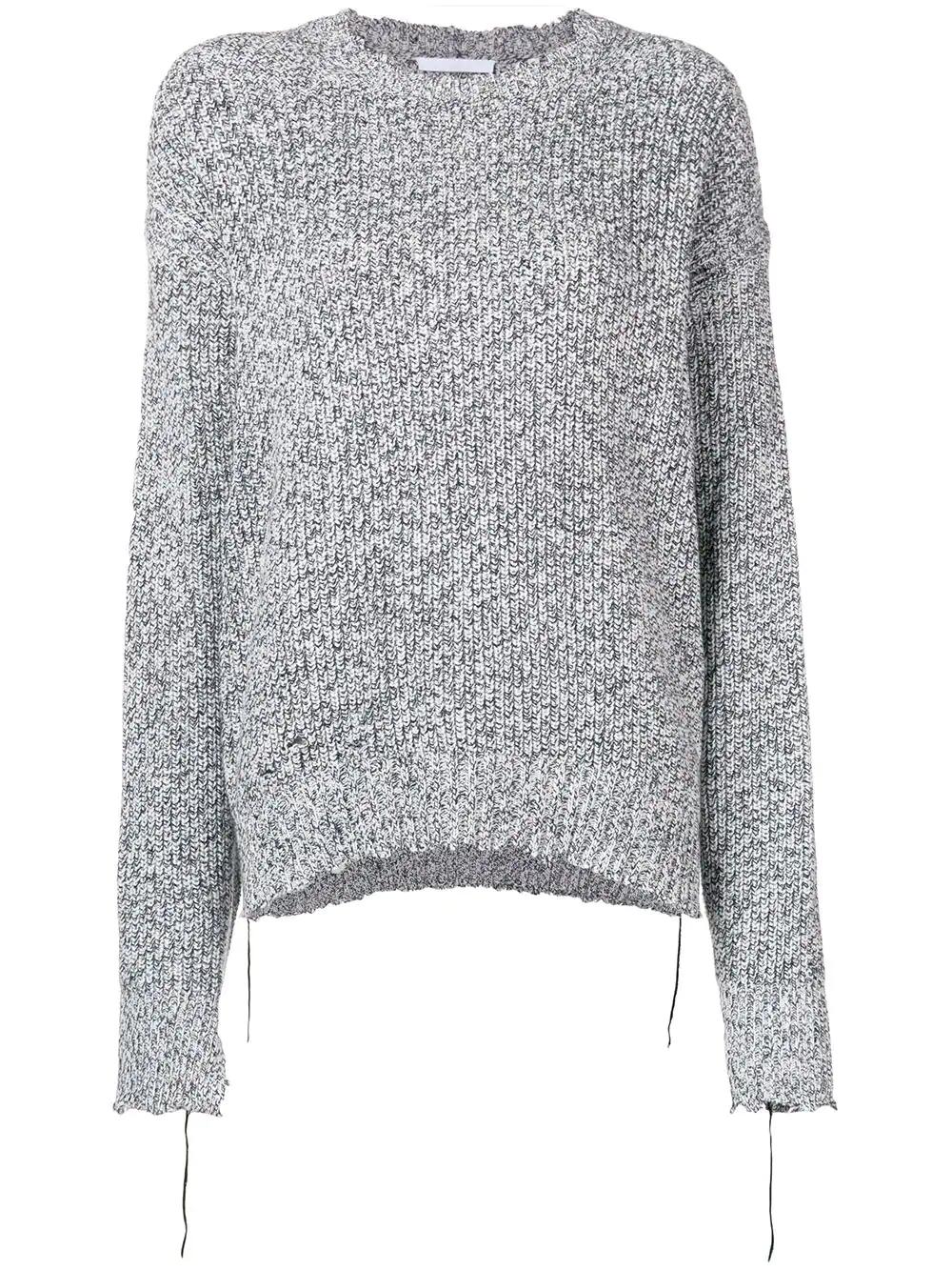 Helmut Lang | состаренный вязаный свитер | Clouty