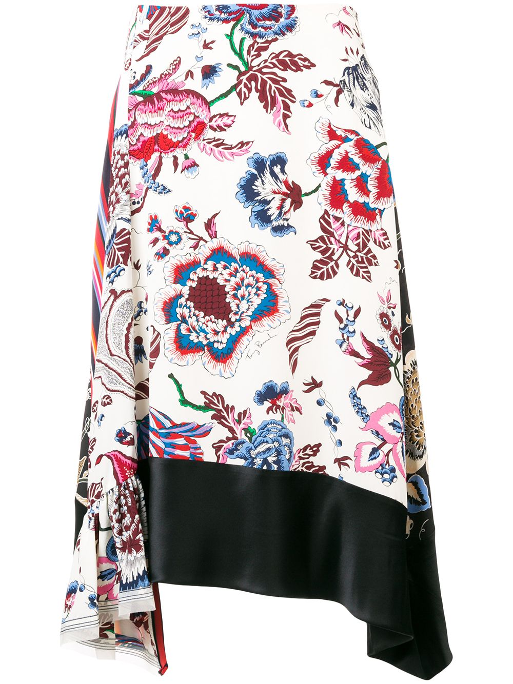 Tory Burch | асимметричная юбка с цветочным принтом | Clouty