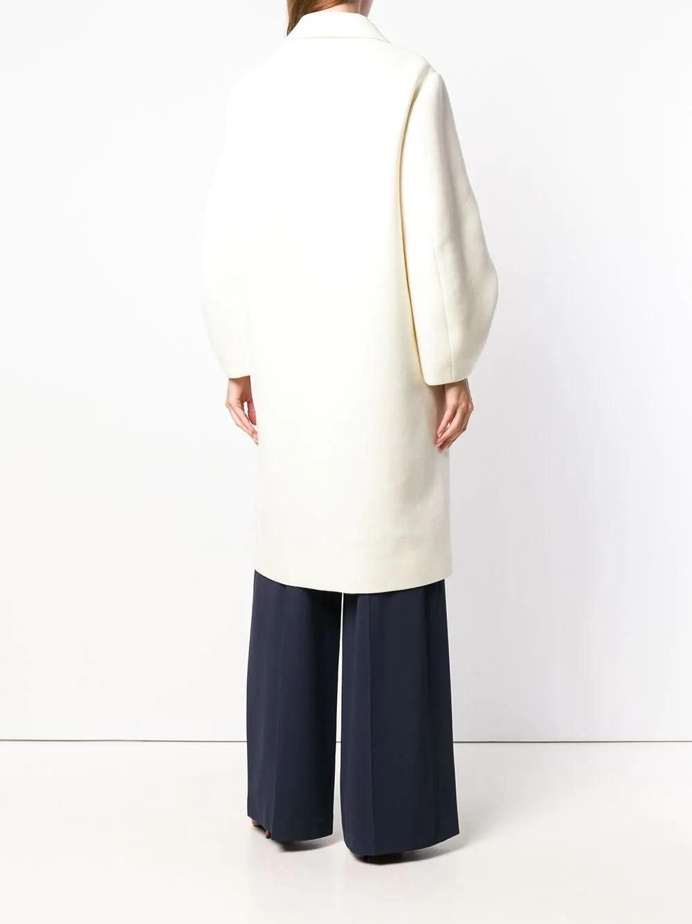 Paule Ka | однобортное пальто с объемными рукавами | Clouty