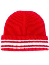 Фото ребристая шапка бини с полосками