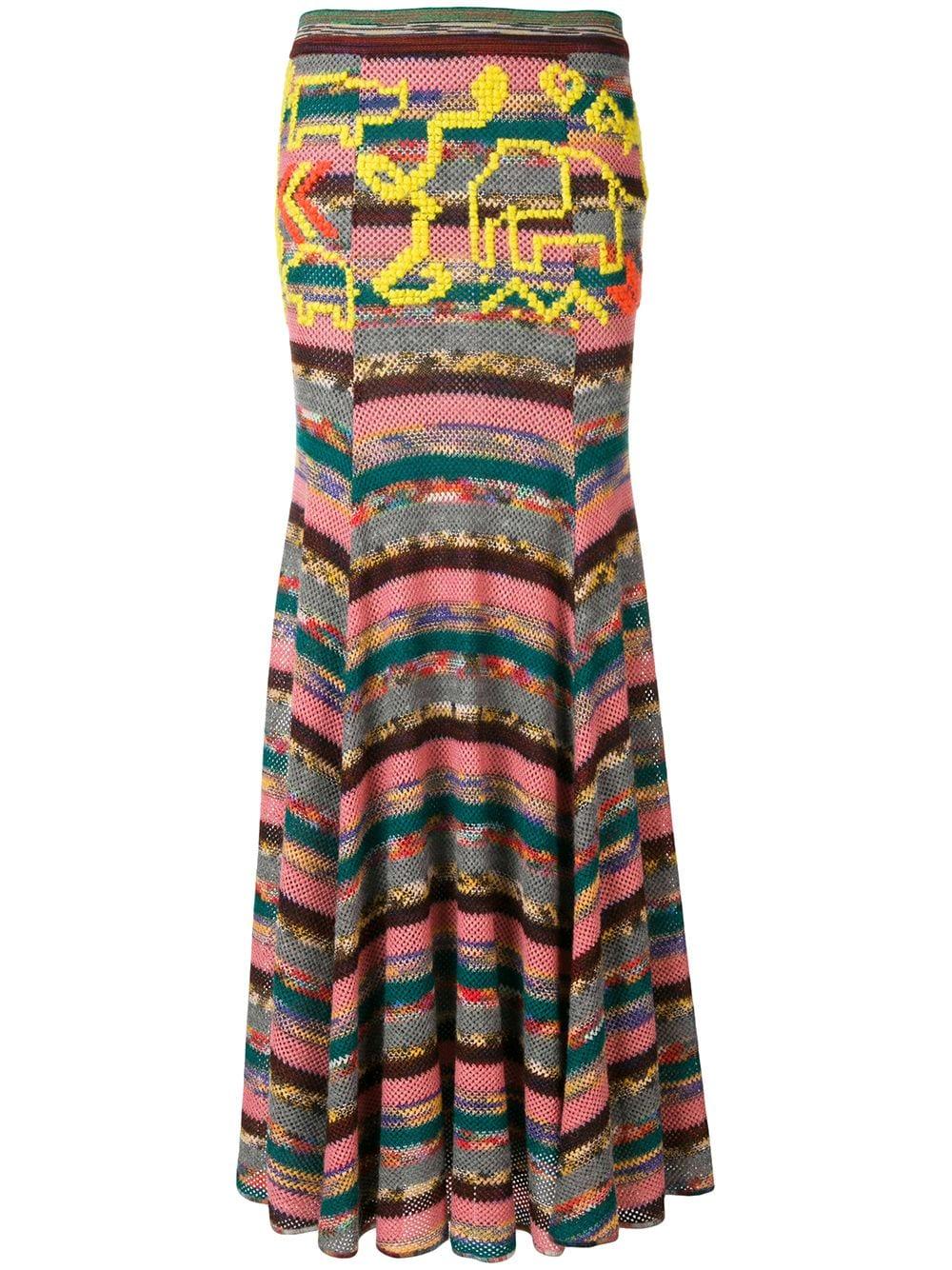 Missoni   длинная юбка в стиле пэчворк   Clouty
