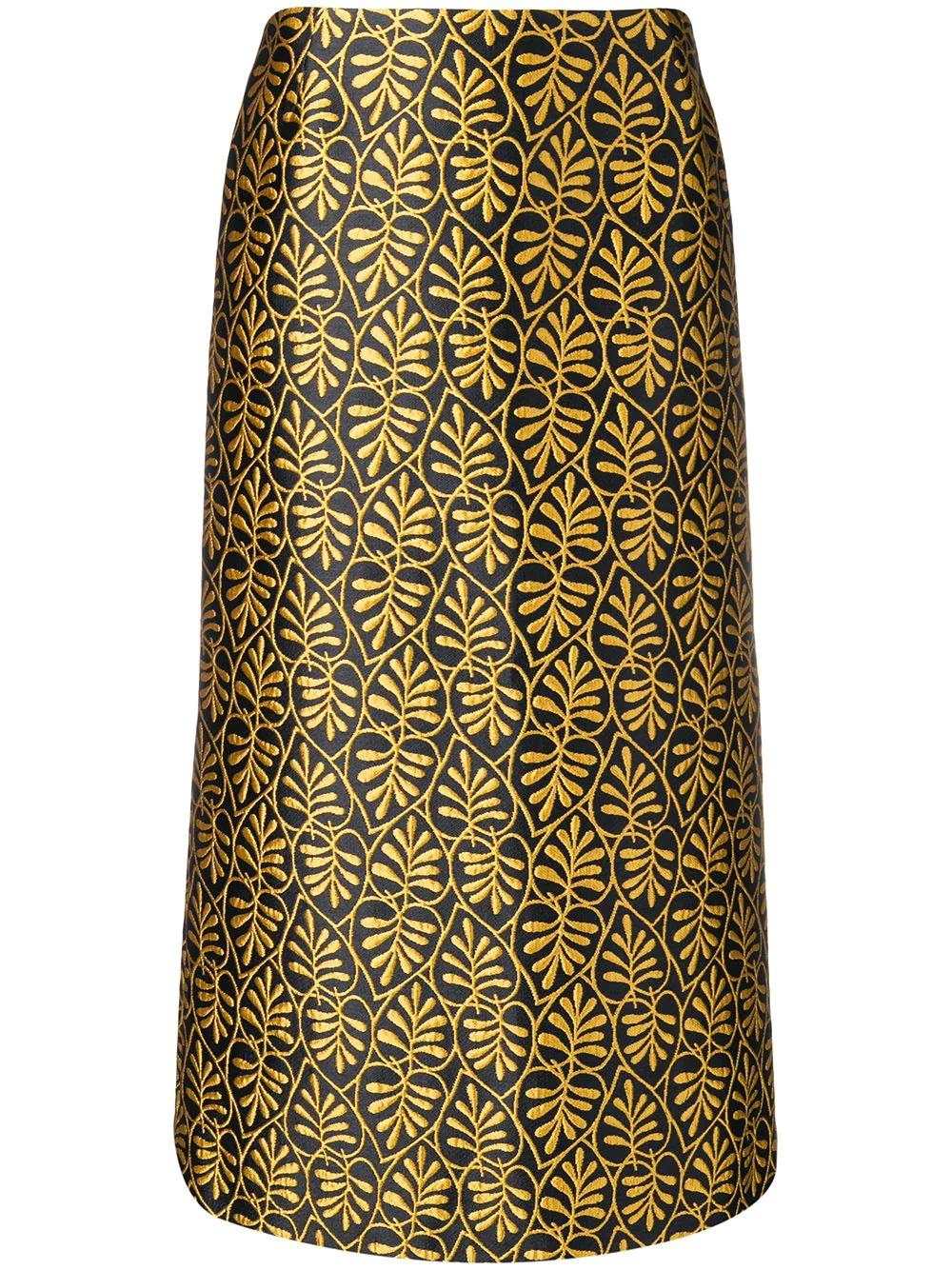 La DoubleJ | жаккардовая юбка-карандаш | Clouty
