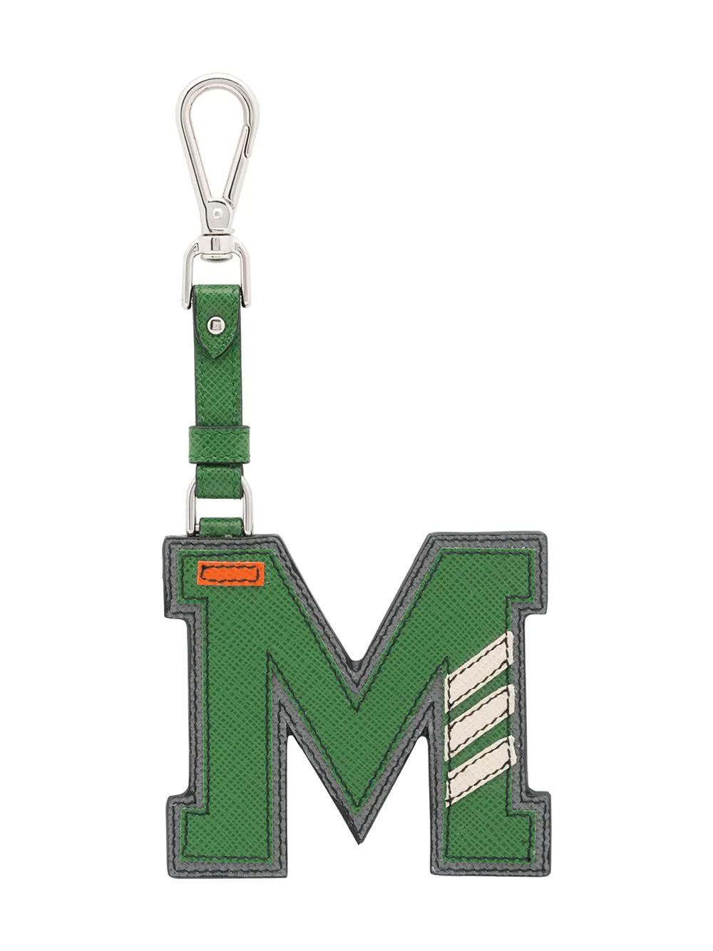 PRADA | Prada брелок в виде буквы 'M' из кожи saffiano | Clouty