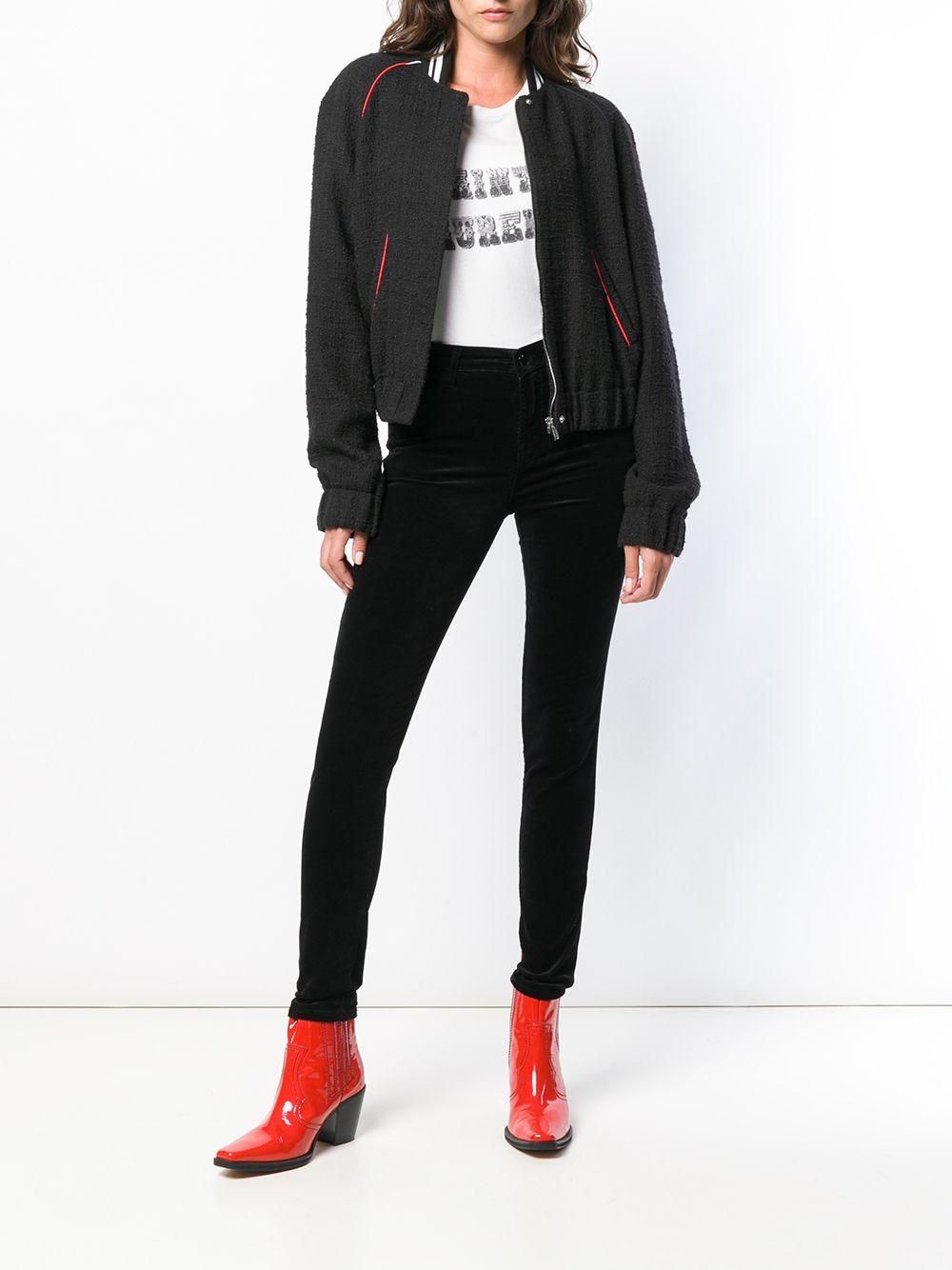 J Brand | джинсы скинни с завышенной талией | Clouty