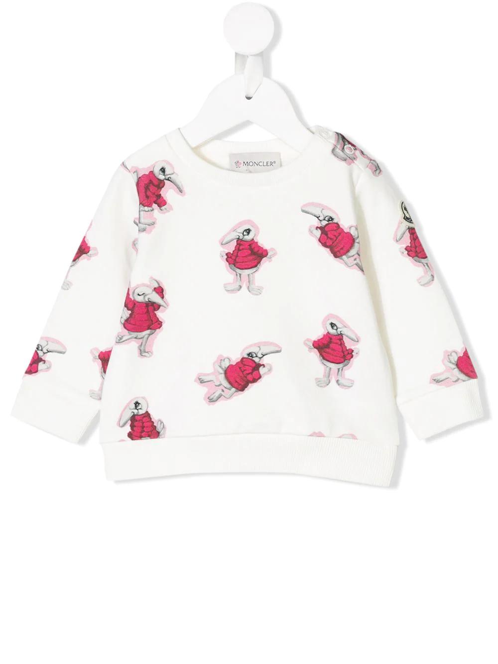 Moncler Enfant | свитер с принтом кролика | Clouty