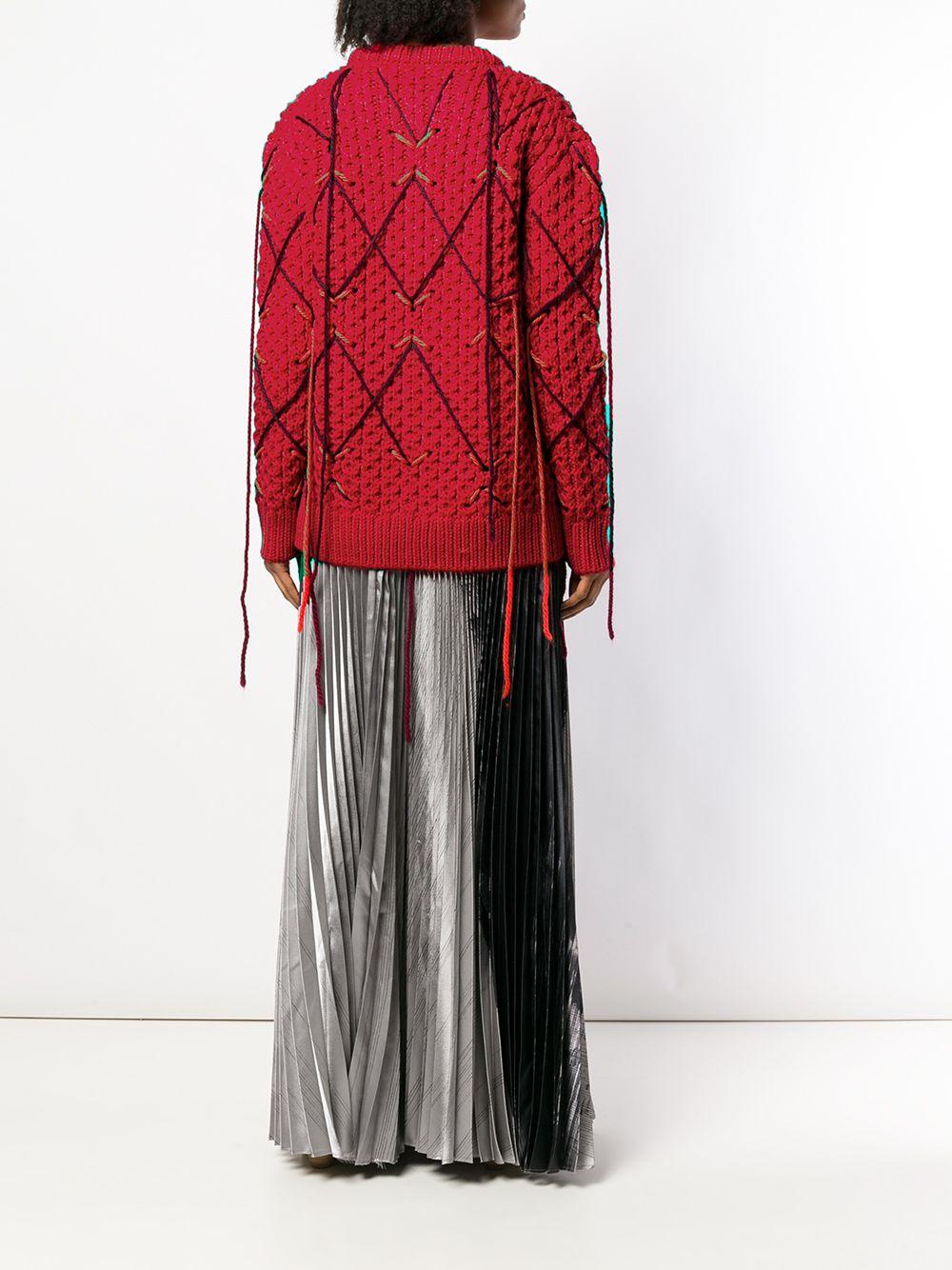 Calvin Klein   трикотажный свитер с бахромой   Clouty