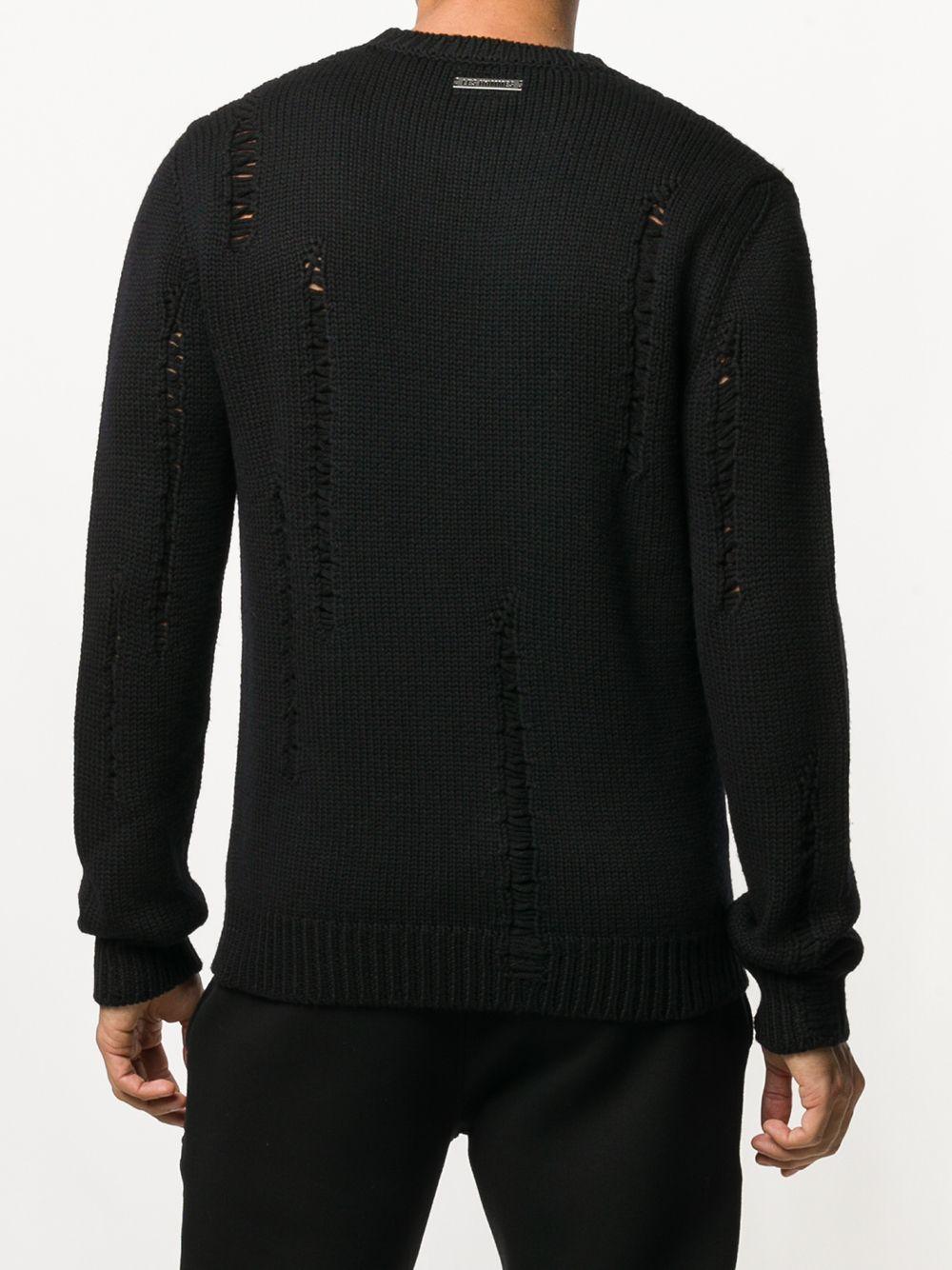Les Hommes | состаренный свитер | Clouty