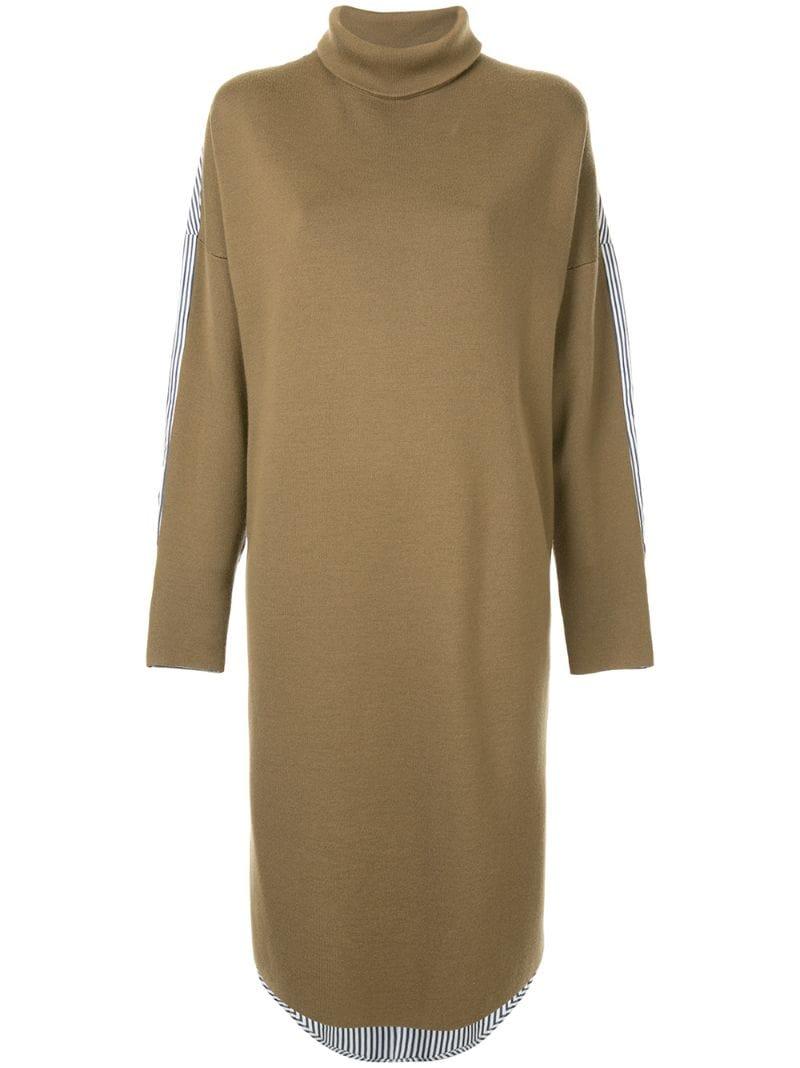 TIBI | платье-свитер с высокой горловиной | Clouty