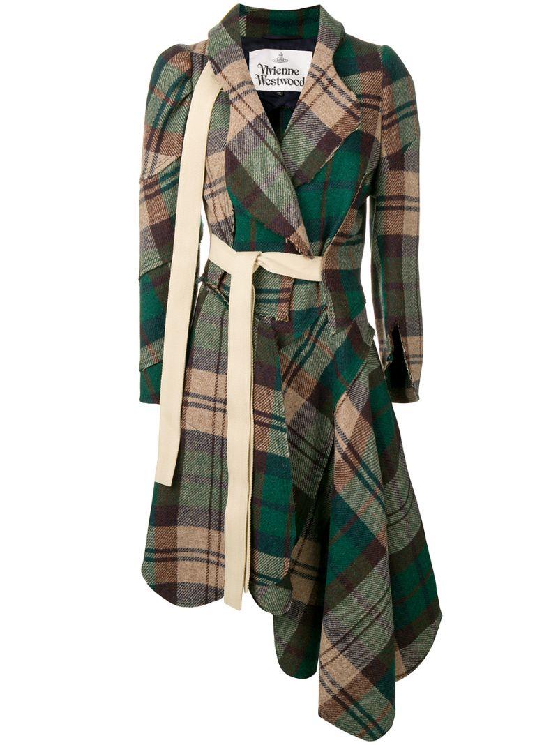 Vivienne Westwood   асимметричное пальто с поясом   Clouty