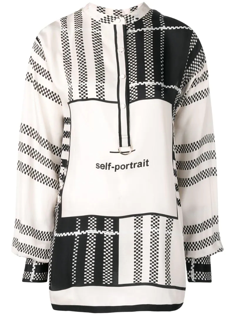 Self-Portrait   блузка в клетку   Clouty