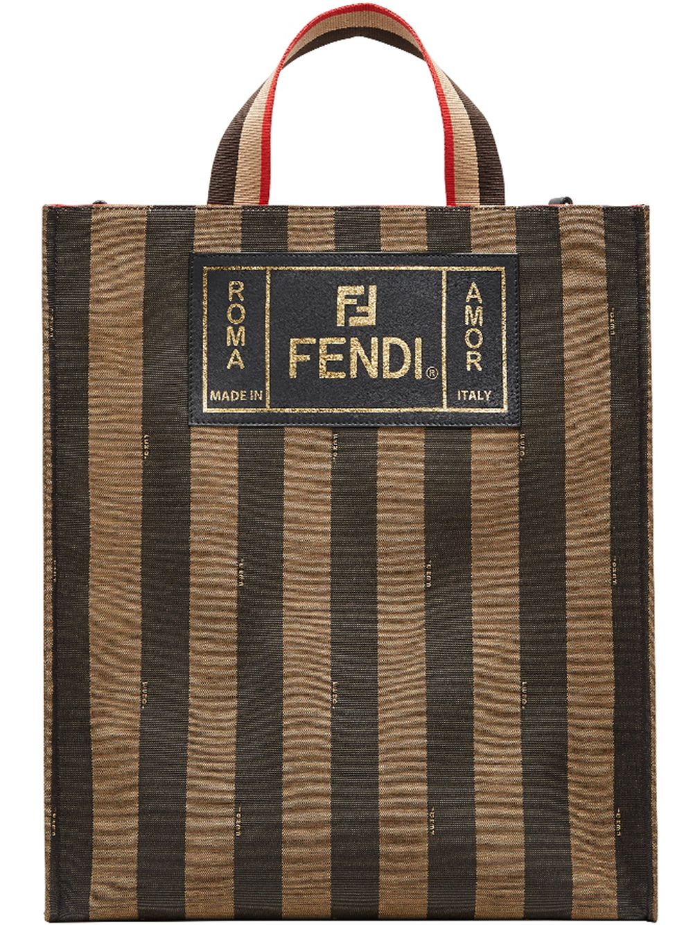 FENDI | полосатая сумка-тоут | Clouty