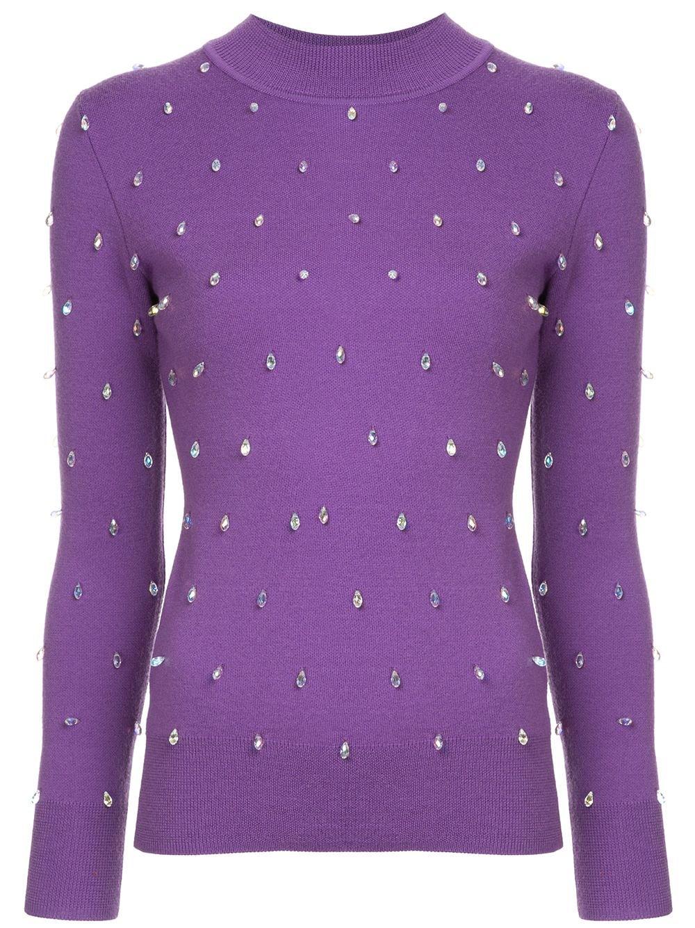 Huishan Zhang | свитер с кристаллами | Clouty