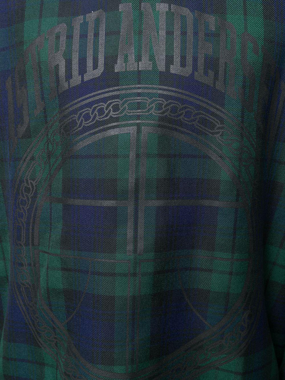 Astrid Andersen   Astrid Andersen толстовка с капюшоном в шотландскую клетку   Clouty