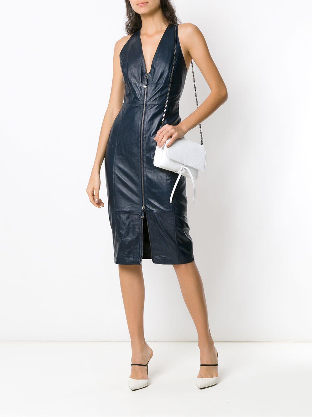 Tufi Duek | leather midi dress | Clouty