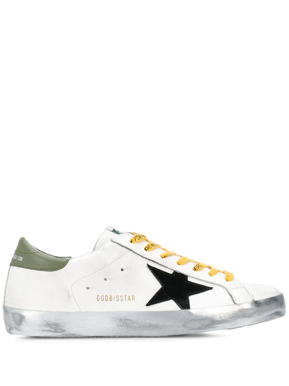 Golden Goose Deluxe Brand | Golden Goose кеды Superstar с логотипом и контрастной шнуровкой | Clouty
