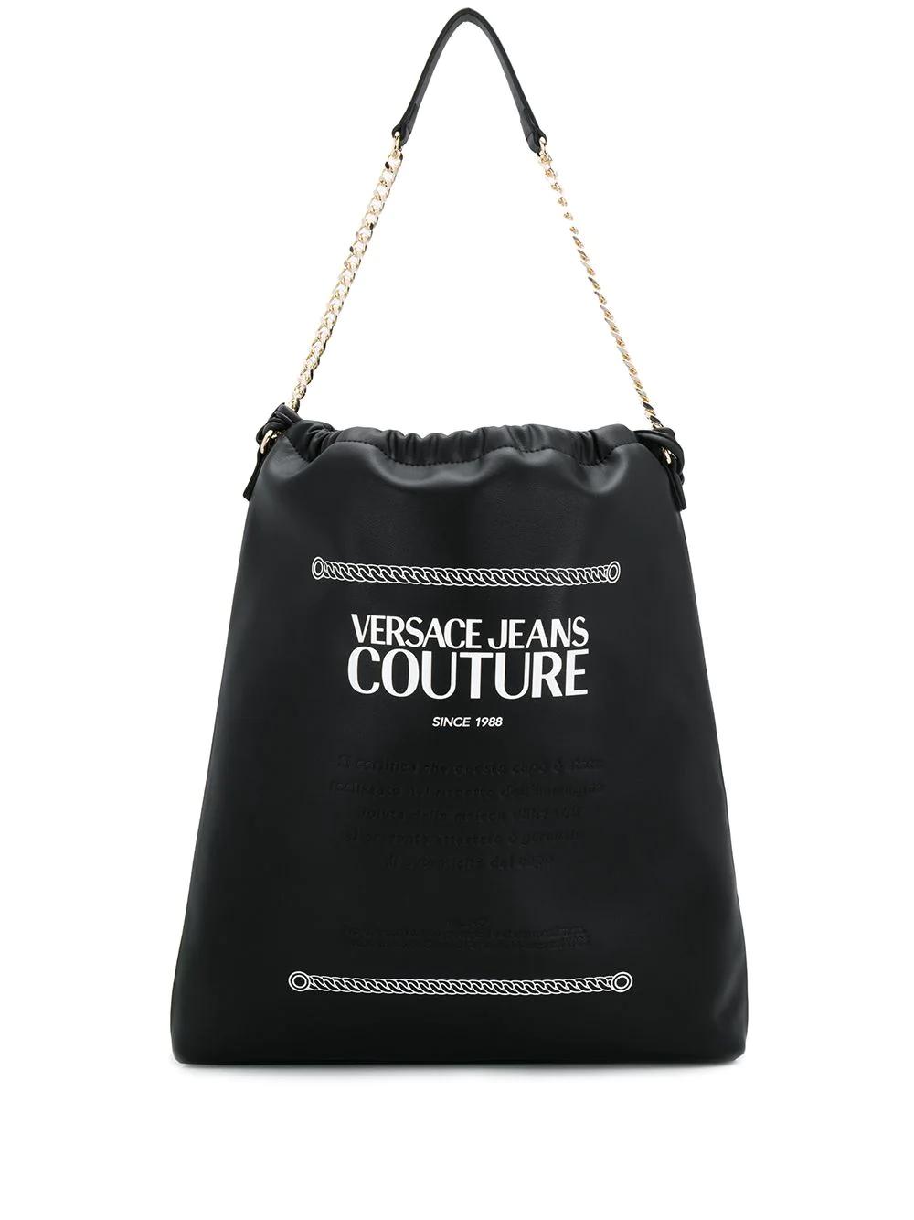 Versace Jeans | рюкзак с верхней ручкой на цепочке | Clouty