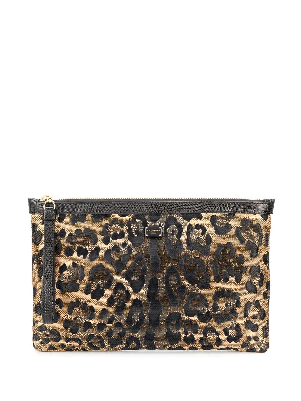 Dolce & Gabbana | Dolce & Gabbana топ с леопардовым принтом и люрексом | Clouty