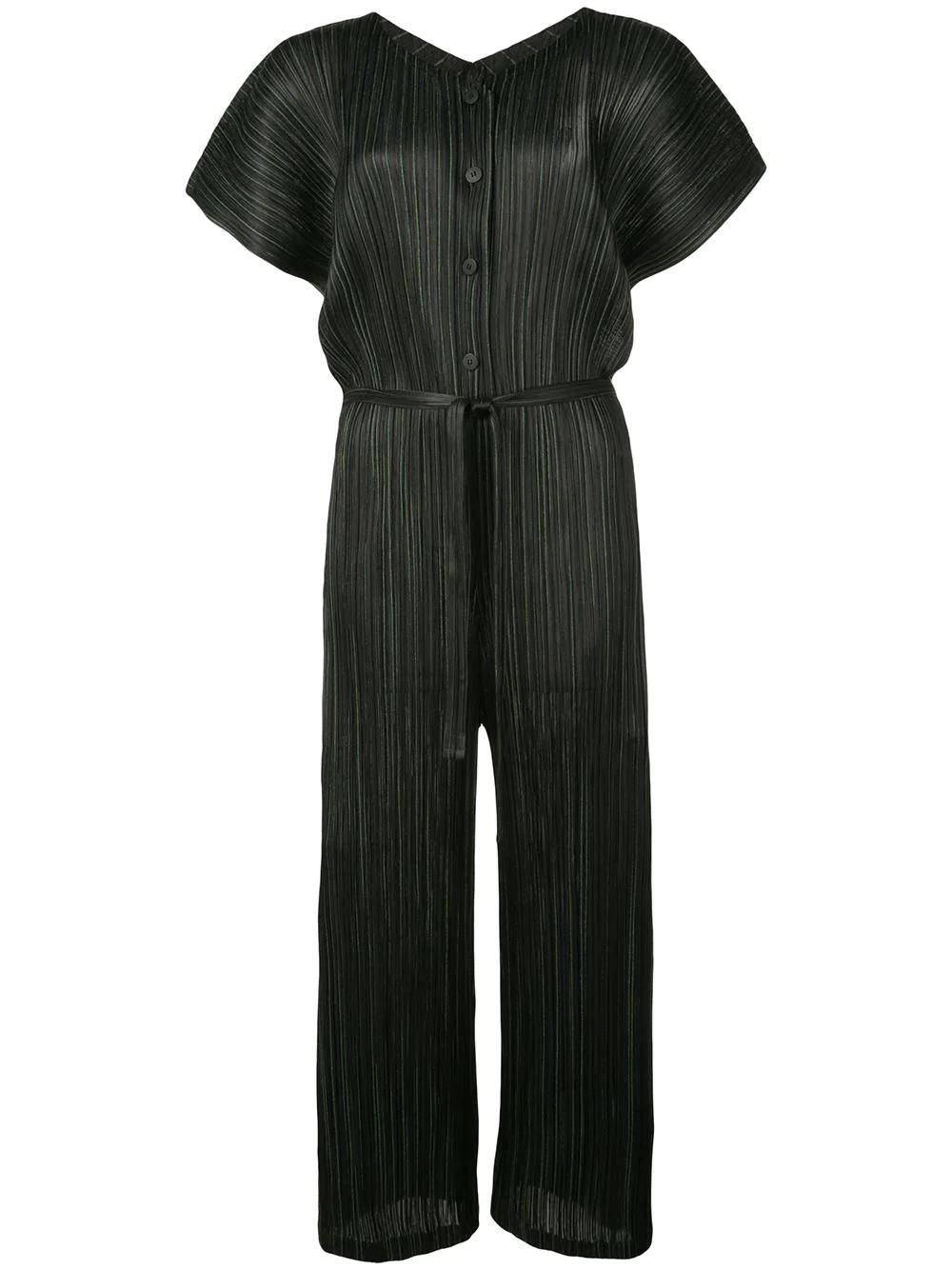ISSEY MIYAKE | комбинезон Shiny Stripes со складками | Clouty